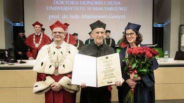 Uniwersytet w Białymstoku. Uroczystość wręczenia tytułu doktora honoris causa prof. Marianowi Goryni