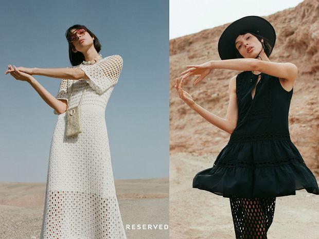 Siateczkowe sukienki oraz hiszpańskie falbany w letnim lookbooku 2019
