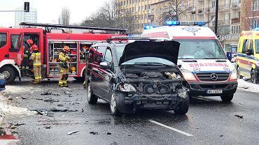 Wypadek z udziałem pojazdu Służby Ochrony Państwa w Warszawie.