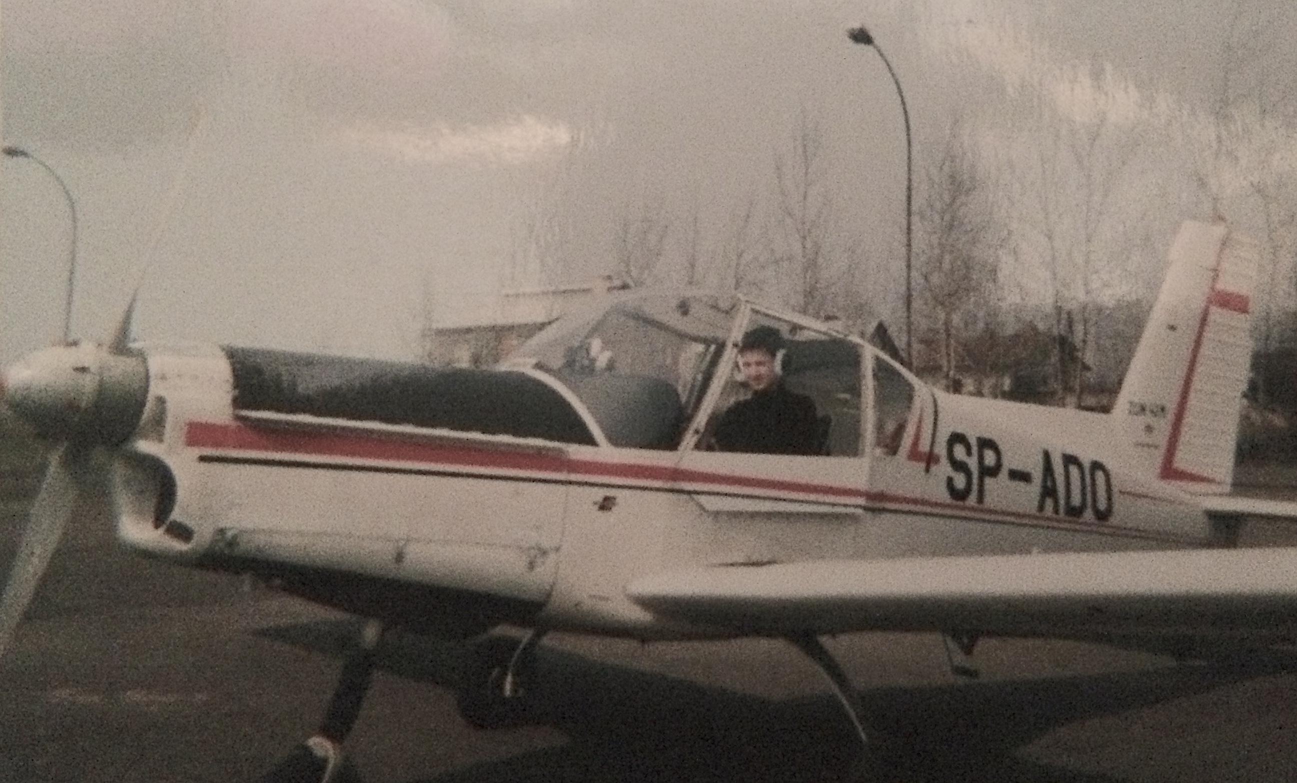 Swój pierwszy lot Łukasz odbył, gdy miał 14 lat (fot. Archiwum prywatne)