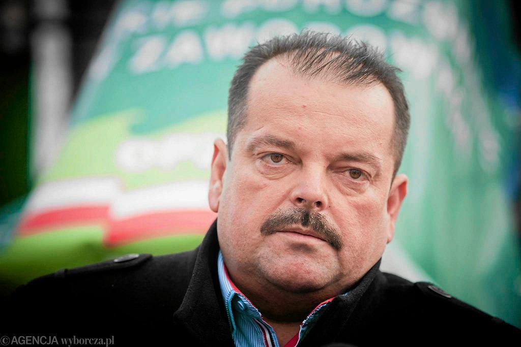 Sławomir Izdebski, szef OPZZ Rolników i Organizacji Rolniczych