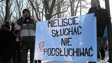 23.01.2016 Warszawa. Demonstracja przeciw 'ustawie inwigilacyjnej'