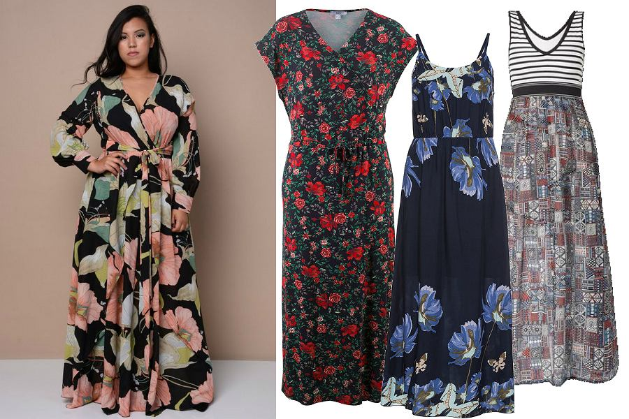 Sukienki maxi dla puszystych