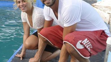 Shakira i piłkarz Barcelony Gerard Pique wypoczywają w Miami
