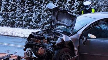 Wypadek w Lesznie