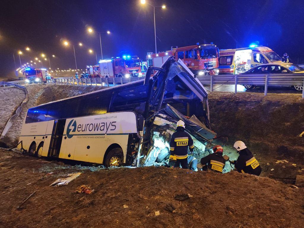 Kaszyce. Wypadek autobusu