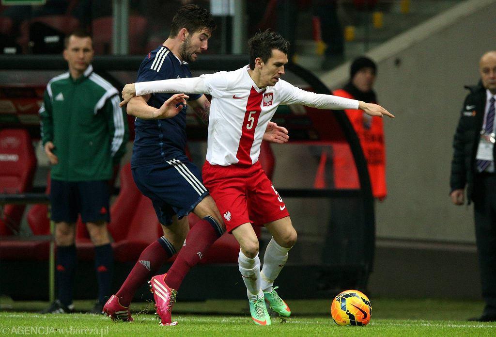 Waldemar Sobota w meczu Polska - Szkocja