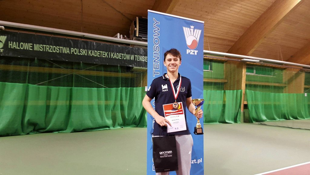Michał Mikuła zdobył w styczniu brąz mistrzostw Polski kadetów w singlu