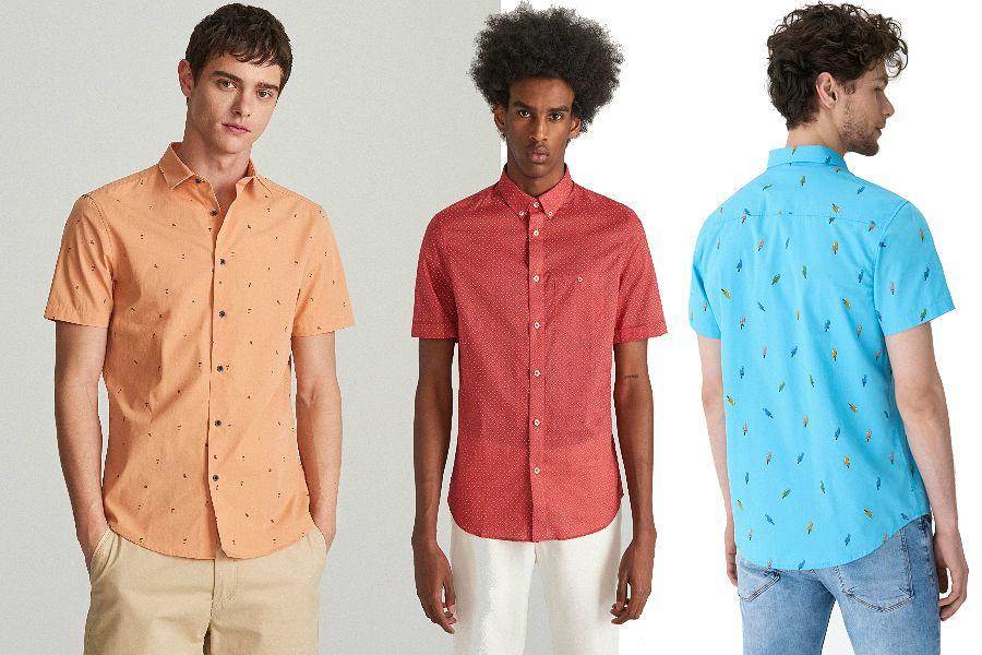 Kolorowe koszule z krótkim rękawem na co dzień