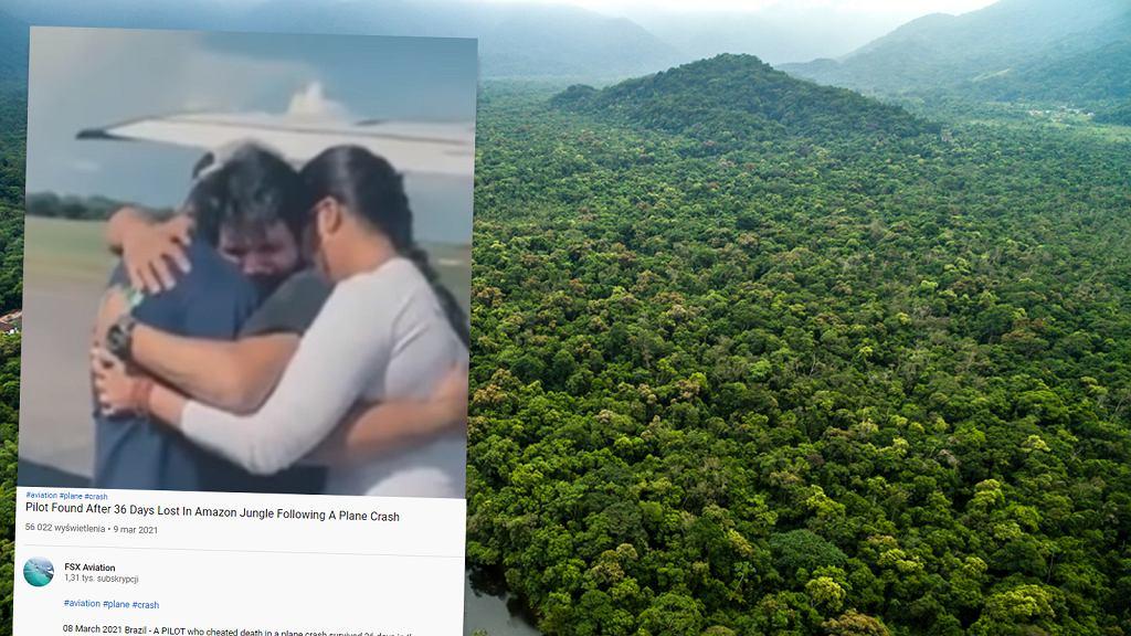 Pilot przeżył 36 dni w dżungli
