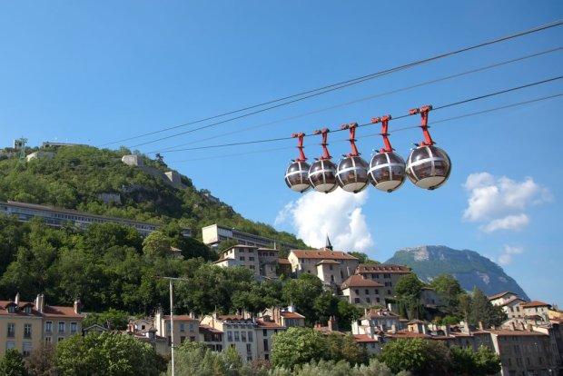 Kolejka z Fort de la Bastille, Grenoble / Fot. Shutterstock