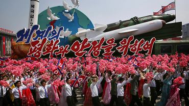 Parada militarna w Pjongjangu