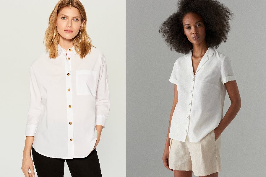 białe koszule Mohito