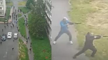 Strzelanina na osiedlu mieszkaniowym na Ukrainie.