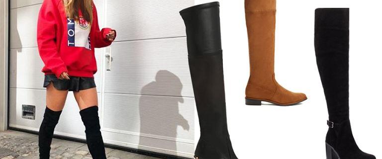 Kozaki za kolano w stylu Anny Lewandowskiej. Te seksowne modele sprawdzą się też zimą