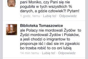 Uchodźcy. Bibliotekarka z Tomaszowic ukarana za ksenofobię