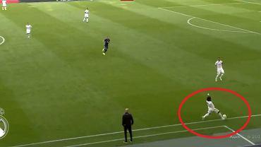 Błąd Marcelo, który wyłożył piłkę Kane'owi