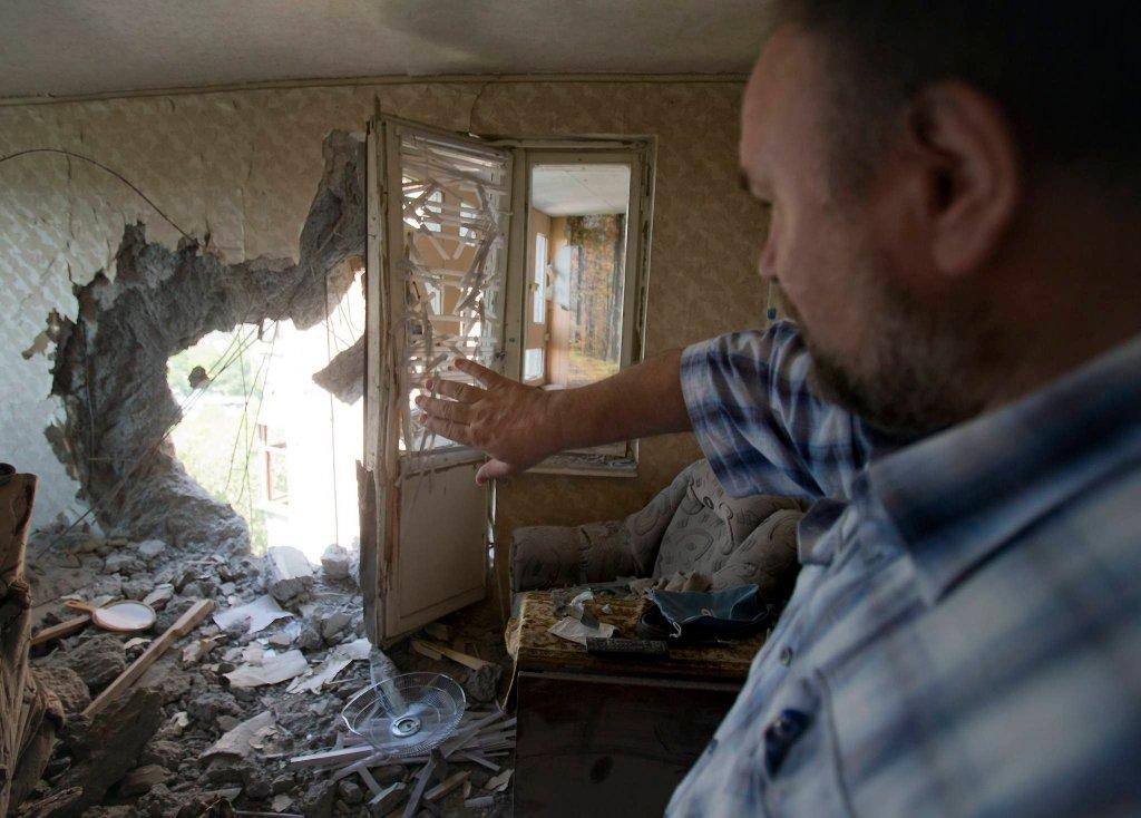 Aleksander Litwinienko, mieszkaniec Doniecka, którego mieszkanie 23 lipca zniszczyła rakieta