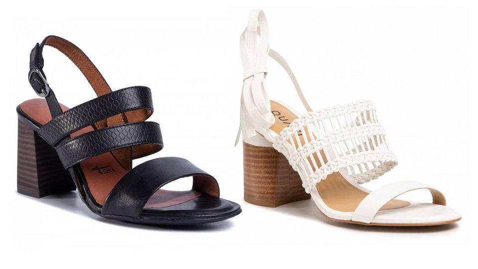 Wyprzedaż skórzanych sandałów