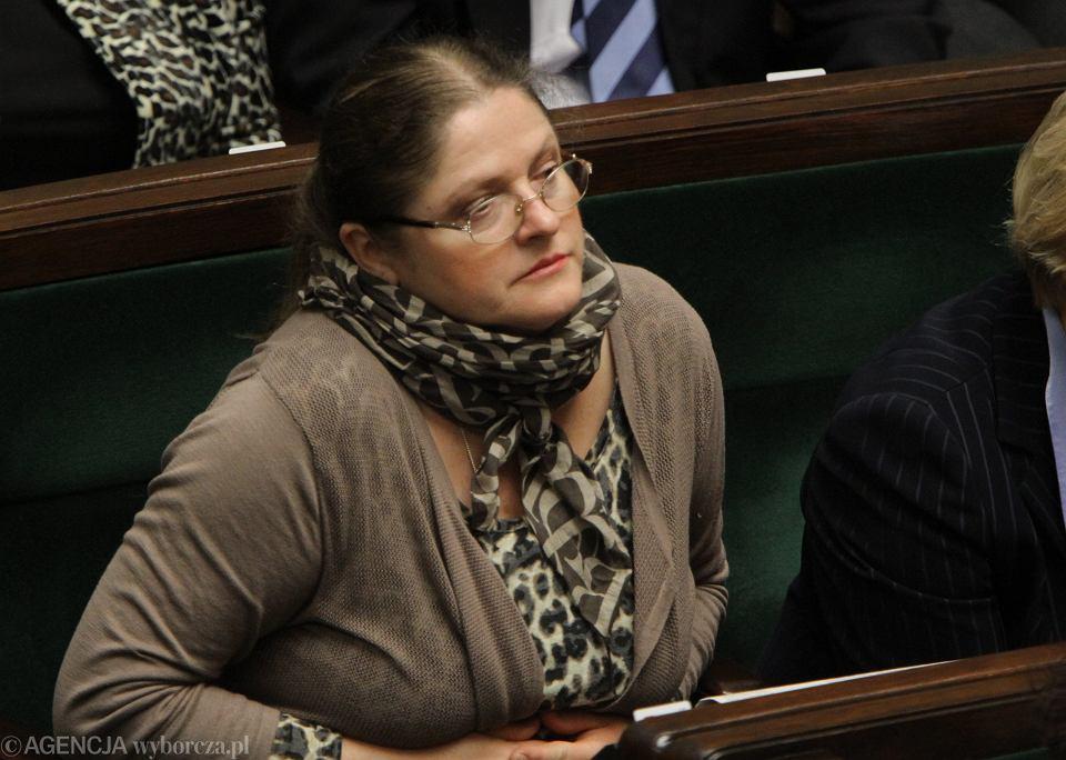 Posłanka Pawłowicz na sali sejmowej