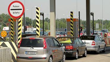 Nowa Wieś k/ Torunia . Bramki autostradowe na autostradzie A1 .