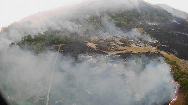 Pożar puszczy amazońskiej, stan Mato Grosso, 20 sierpnia 2019.