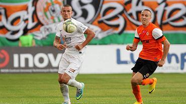 Adam Frączczak podczas inauguracji sezonu w Lubinie