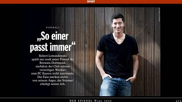 """Artykuł o Robercie Lewandowskim w niemieckim tygodniku """"Der Spiegel"""""""