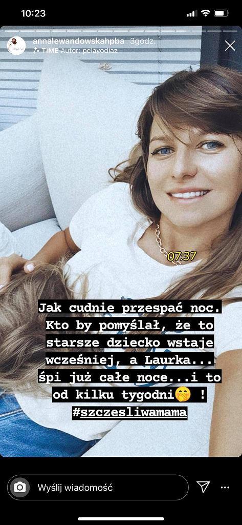 Anna Lewandowska pochwaliła się przespaną nocą