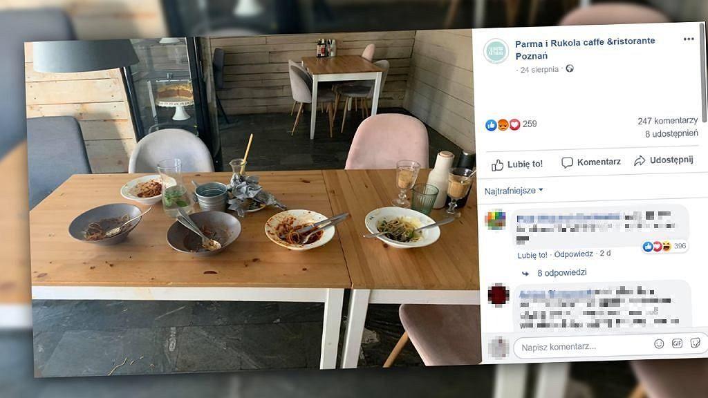 Restauracja Parma & Rukola po wizycie rodziny z dziećmi