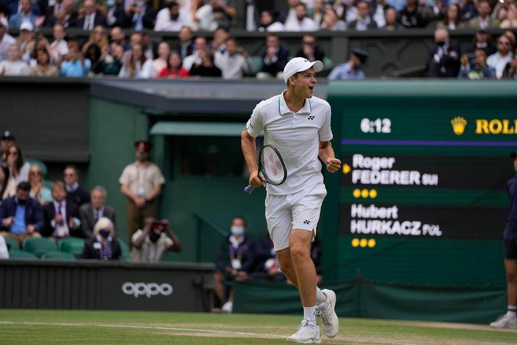 Hubert Hurkacz pokonał Rogera Federera w ćwierćfinale Wimbledonu