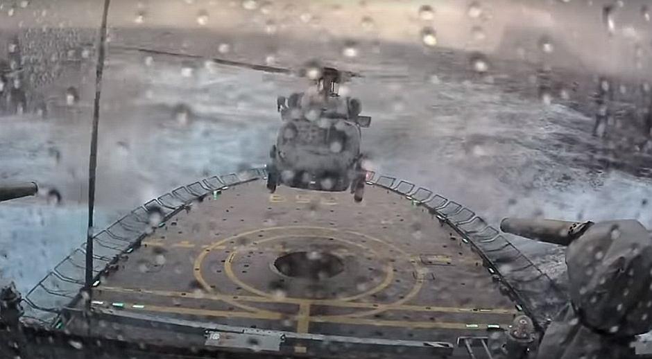 Lądowanie na wzburzonym morzu