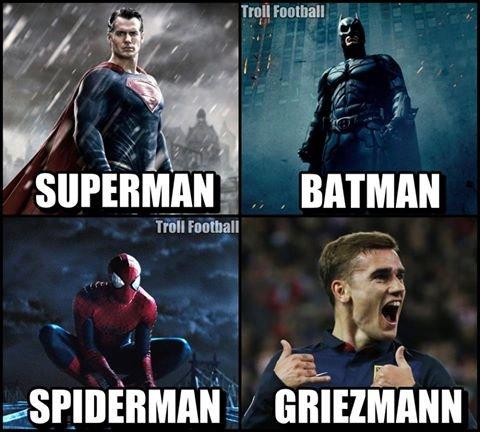 Zdjęcie numer 0 w galerii - Bayern - Atletico. Superman, Batman, Griezmann! Oblak obroni wszystko oprócz... [MEMY]