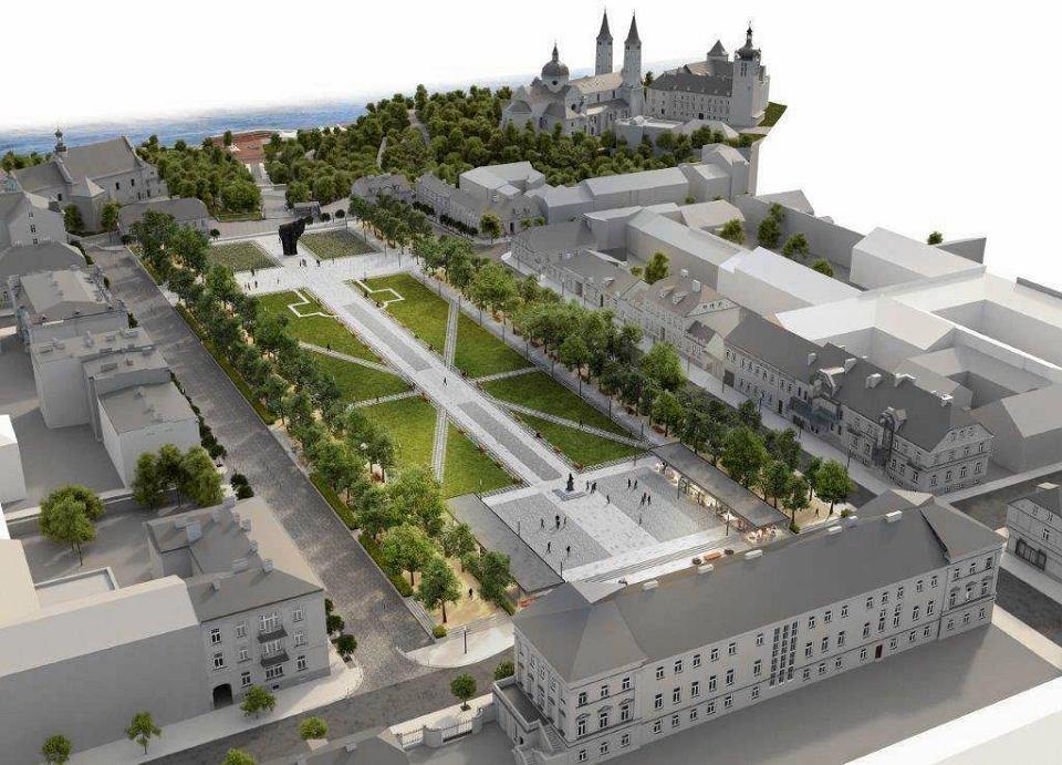 Tak według ostatniej koncepcji ma wyglądać w przyszłości plac Obrońców Warszawy