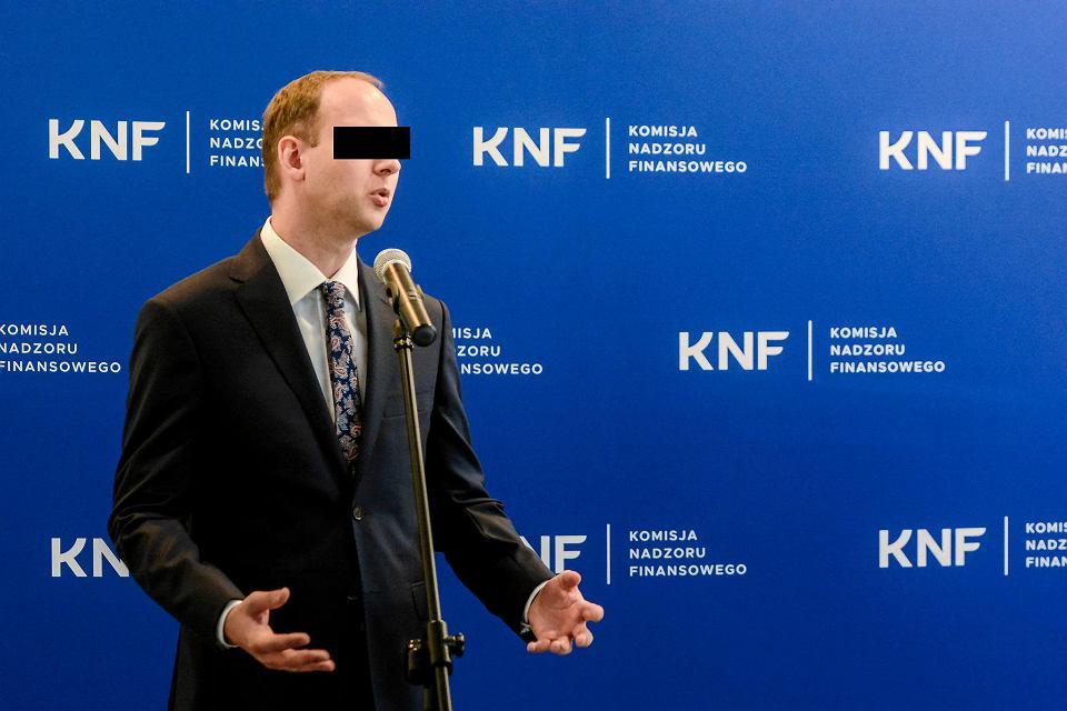 Były przewodniczący KNF Marek Ch. Warszawa, 9 maja 2018