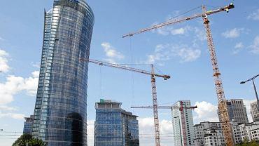 Warsaw Spire w budowie.