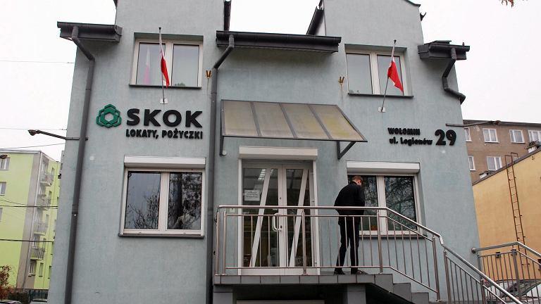 Oddział SKOK przy ulicy Wileńskiej w Wołominie.