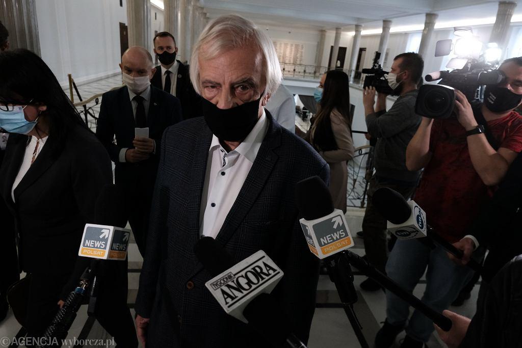 Szef klubu PiS Ryszard Terlecki. Warszawa, Sejm, 20 października 2020