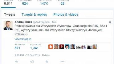 Andrzej Duda na Twitterze