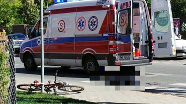 Zginął chłopiec potrącony na rowerze