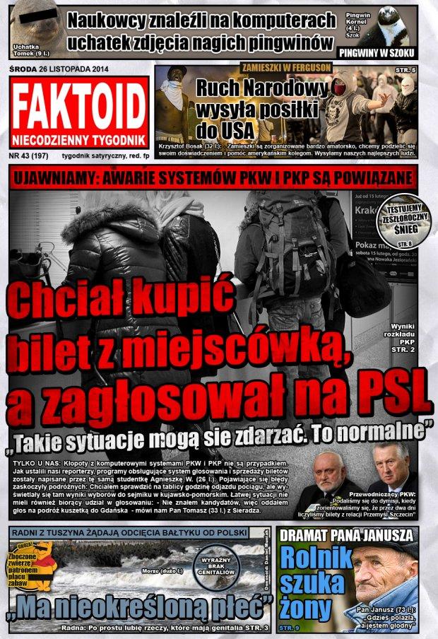 Faktoid, 26 listopada 2014, nr 43 (197) -  - Gazeta.pl
