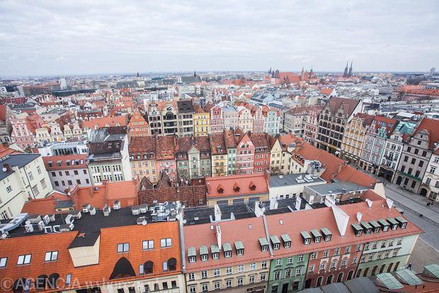Wrocław, widok z wieży ratusza