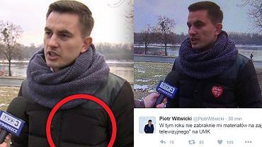Kurtka Arkadiusza Myrchy przed i po retuszu TVP