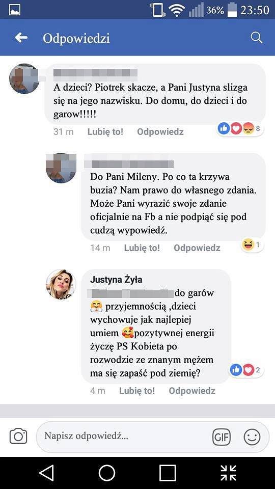 Justyna Żyła odpowiada na hejt