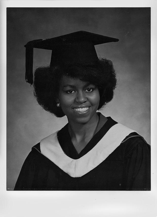 Michelle Robinson w chwili ukończenia studiów wyższych