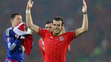 Gareth Bale świętuje zwycięstwo Walii z Belgią