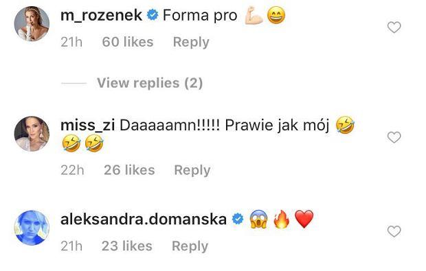 Gwiazdy komplementują Lewandowską