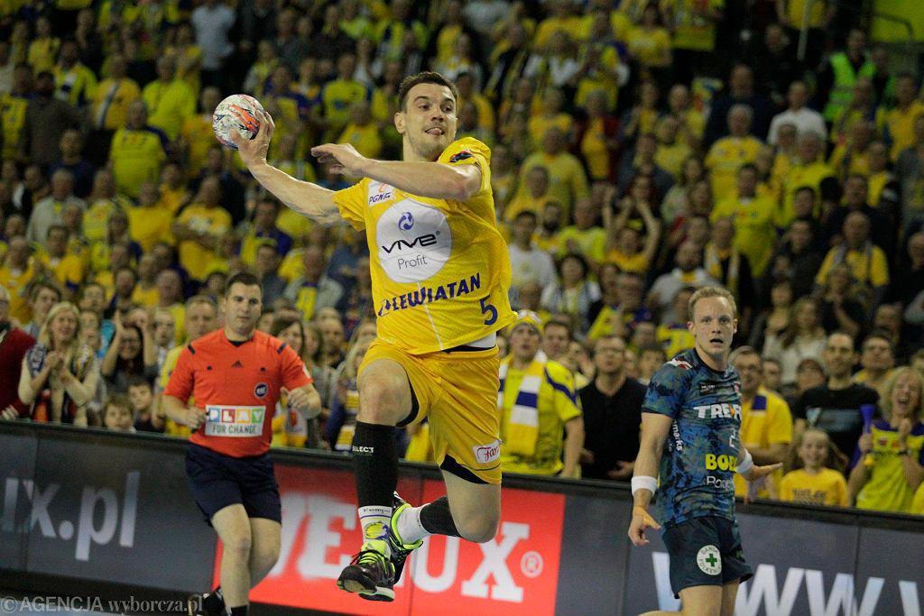Michał Jurecki podczas meczu Vive Tauron Kielce - KIF Kolding