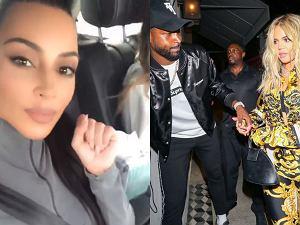 Kim Kardashian, Tristan Thompson, Khloe Kardashian