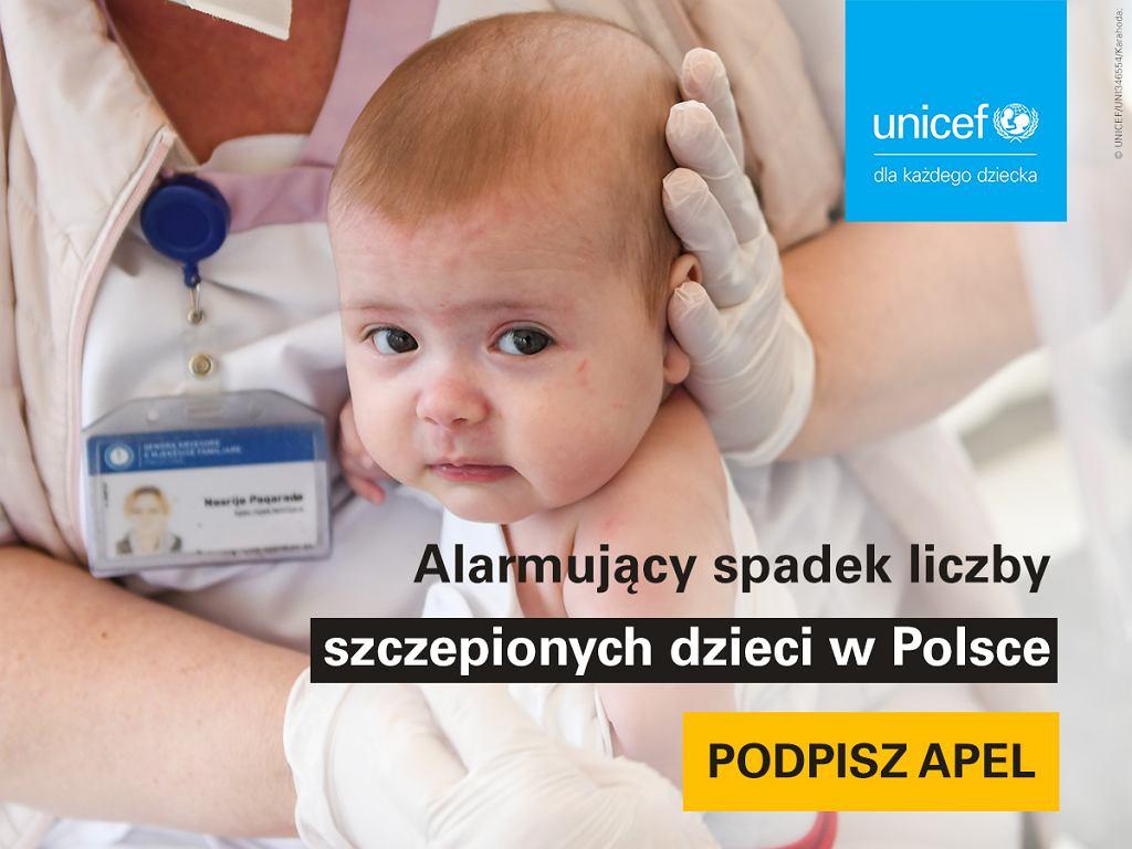 Maleje liczba zaszczepionych dzieci
